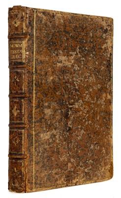 Lot 269-New Testament [Greek]. Novum Jesu Christ D.N. Testamentum, Paris: Roberti Stephani, 1550