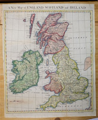 Lot 1-British Isles. A mixed collection of approximately 140 maps, mostly 19th century