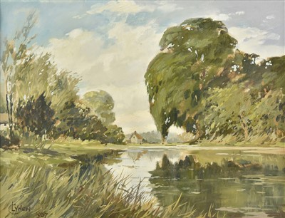 Lot 31-Lynch (C., 20th century). Two English river landscapes, 1967