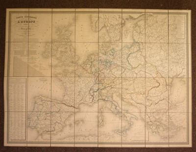 Lot 2-Europe. Dufour (A. H.), Carte Itineraire de L'Europe..., Paris, 1843