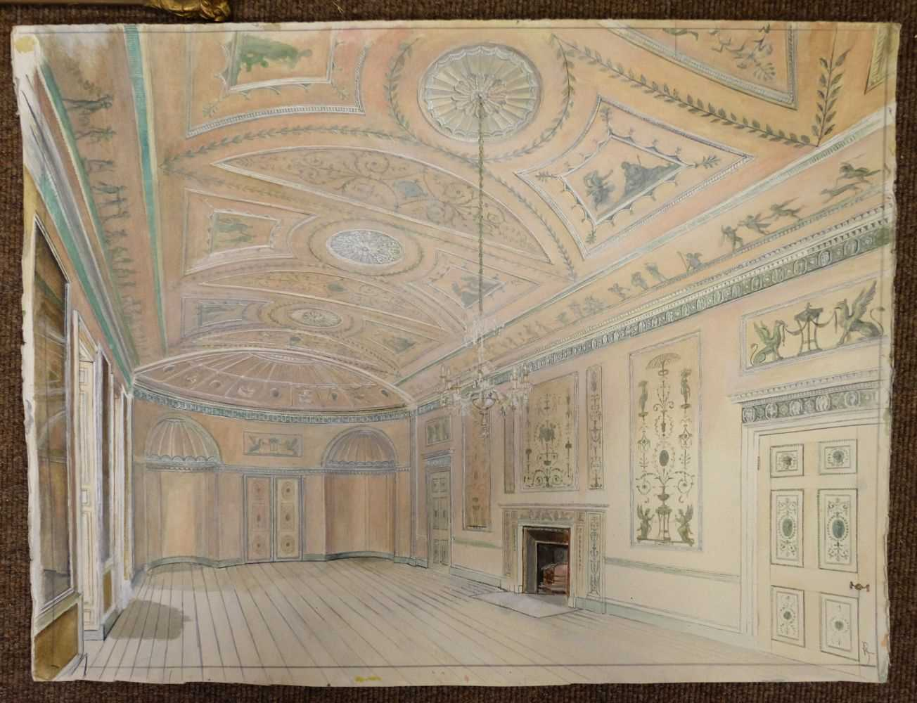 Lot 29-Jones (Royston). Interior of Heveningham Hall, Suffolk