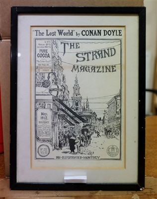 Lot 15-Conan-Doyle (Arthur). The Lost World, Strand Magazine, original cover design, May 1912