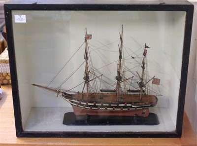 Lot 3-Model ship. A scratch built model ship