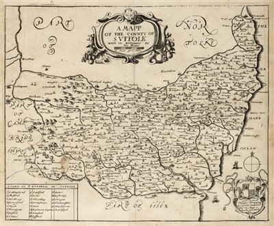 Lot 7-Blome (Richard). A collection of ten county maps. [1673]