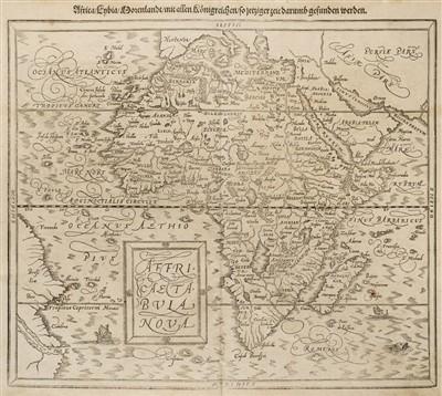 Lot 2-Africa. Munster (Sebastian). Africa Lybia Morenlandt mit allen Koenigreichen..., 1580