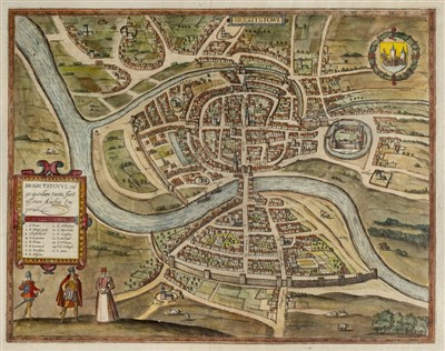 Lot 9-Bristol. Braun (Georg & Hogenberg Frans), Brightstowe [1581 or later]