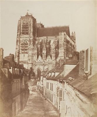Lot 13-Baldus (Eduard Denis, 1813-1889). The Church of Saint Vulfran Abbeville, c. 1855