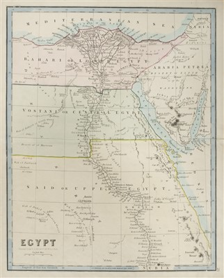 Lot 35-Middle East. A mixed collection of approximately 48 maps, mostly 19th century