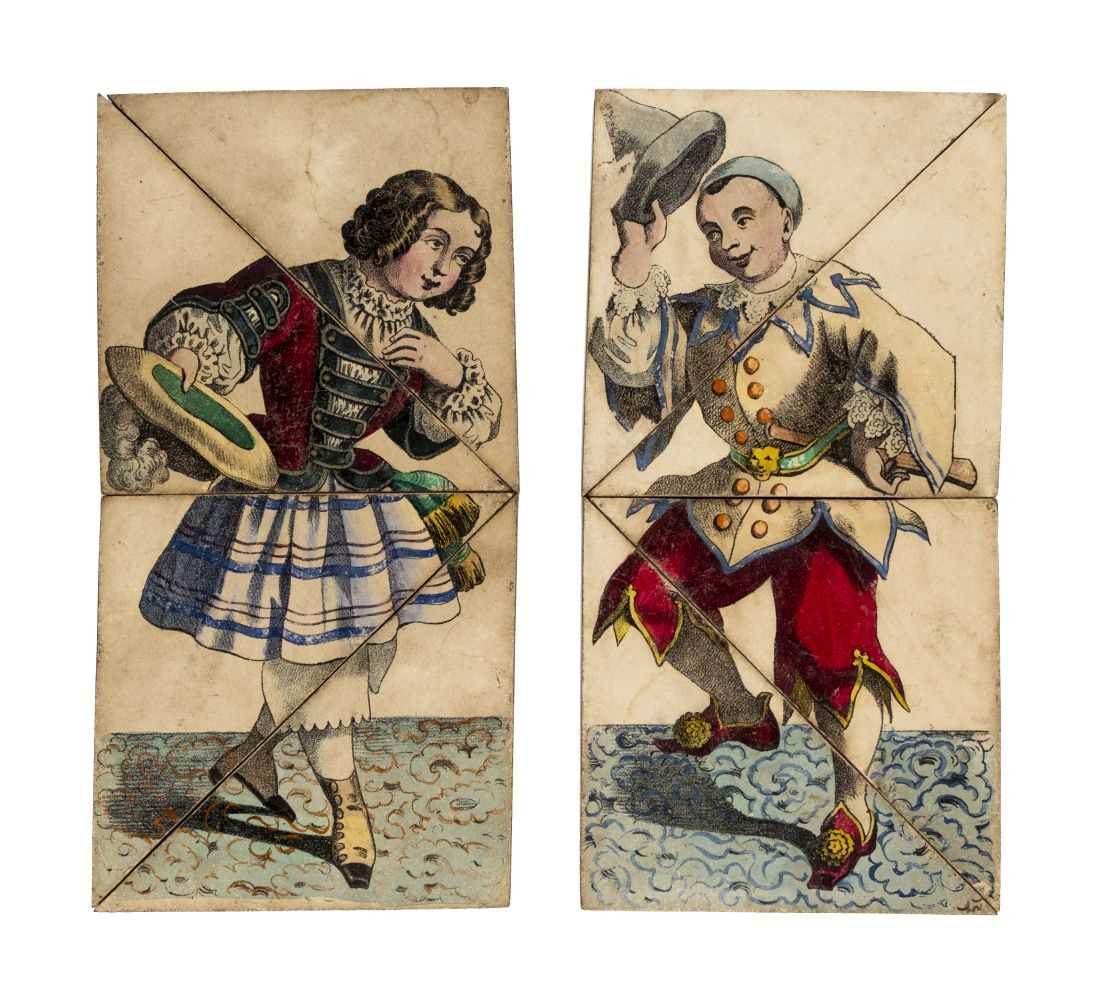 Lot 548-The Changing Companions. Comic Metamorphosis, circa 1850s