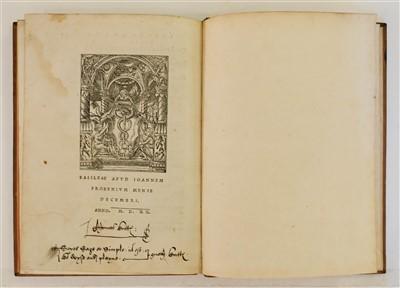 Lot 194 - More (Thomas). Epigrammata clarissimi dissertissimique viri Thomae Mori Britanni..., 1520