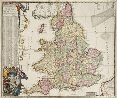 Lot 21-England & Wales. De Ram (Jan), Regni Angliae..., 1756