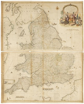 Lot 22-England & Wales. Rocque (John), England & Wales..., published Robert Sayer, circa 1760