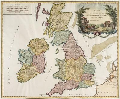 Lot 14-British Isles. De Vaugondy (Robert), Carte..., D'Angleterre..., circa 1778