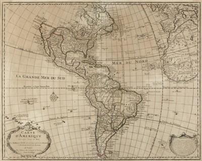 Lot 4-Americas. De L'Isle (Guillaume), Carte d'Amerique, 1722