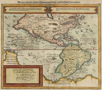 Lot 6-Americas. Munster (Sebastian), Americae sive novi orbis..., [1588 - 1628]