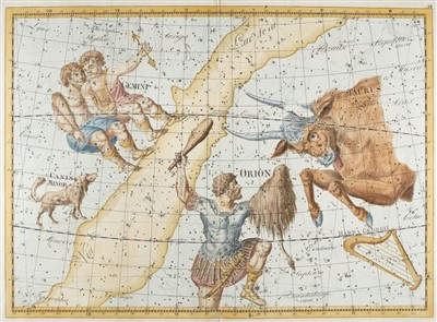 Lot 16-Celestial charts. Bode (Johann), Three charts, 1801
