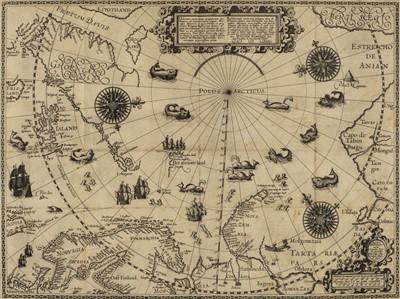 Lot 43 - Linschoten (Jan Huyghen van). Navigatio ac itinerarium in orientalem, 1st edition in Latin, 1599