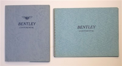 Lot 17-Bentley. The Bentley Continental, sales brochure, circa 1962