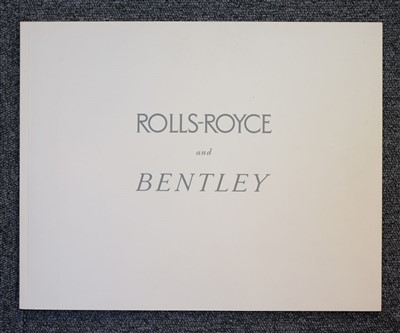 Lot 23-Rolls-Royce & Bentley. Silver Cloud & Series 'S' sales brochure, circa 1955