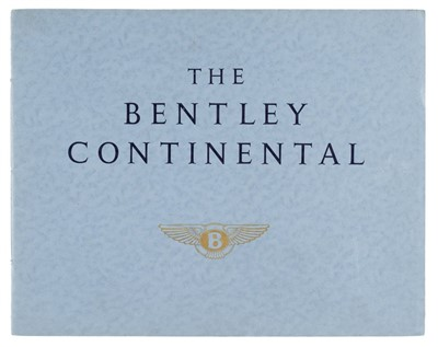 Lot 15-Bentley. The Bentley Continental sales brochure, circa 1957