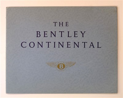 Lot 16-Bentley. The Bentley Continental sales brochure, circa 1957