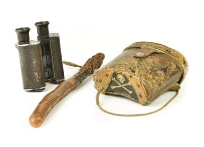 Lot 12 - Broadhurst (Arthur Brooks, 1860-1930). Binoculars and fishing priest of an Indian big-game hunter