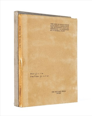 Lot 623 - Flint (Sir William Russell). The Song of Songs, 1909