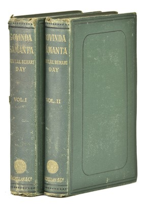 Lot 17-Day (Lal Behari). Govinda Sámanta, 2 volumes, 1st edition, 1874