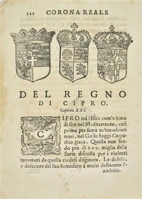 Lot 18-Della Chiesa (Francesco Agostino). Corona reale di Savoia, 1st edition, Cuneo, 1655-7