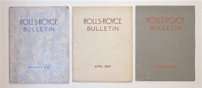 Lot 24-Rolls-Royce Bulletin. April 1934, December 1937 and September 1938