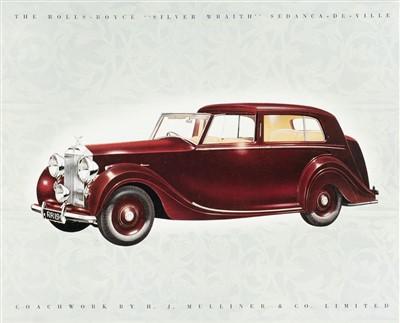 Lot 29 - Rolls-Royce. Silver Wraith sales brochure, circa 1949