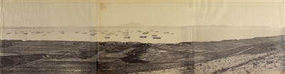 Lot 48-China. Beato (Felice, 1832-1909). 'Talien Whan Bay July 21st, 1860', 3-part panorama