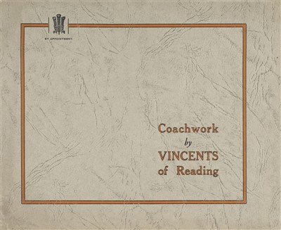 Lot 36-Vincents Coachwork. Coachwork by Vincents of Reading, sales brochure, circa 1930