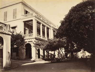 Lot 59 - Hong Kong. Two views of Hong Kong Club by John Thomson and William Pryor Floyd, c. 1870