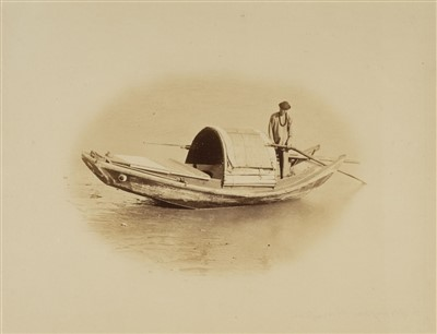 Lot 45-China. Saunders (William, 1832-1892), A group of Shanghai boat scenes, c. 1860s
