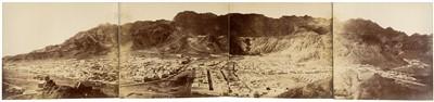 Lot 26-Aden. A 4-part photographic panorama of Aden, 1870s