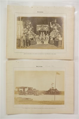 Lot 50-China. Far East Magazine, 1876, a group of 17 photographs by William Saunders