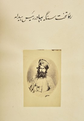 Lot 29-India. Photographs of Indian rulers [Muraqqa' Jahan Numa], c.1880