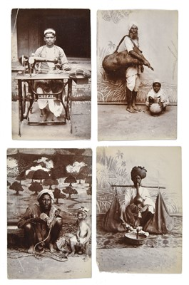 Lot 32-India. A group of 10 carte-de-visite photographs of Indian servants and itinerants, c. 1890