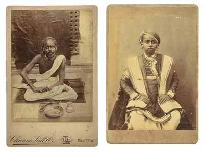 Lot 33-India. A group of three cabinet cards of Hindu priests, c. 1890s