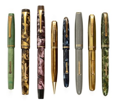 Lot 59 - Fountain pens. A collection of vintage fountain pens