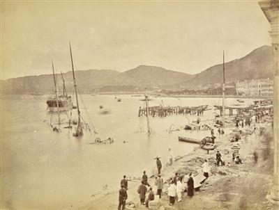 Lot 41-Hong Kong. An album containing 32 mounted albumen prints, c. 1870s