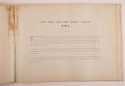 Lot 38 - Thomson (John). Views on the North River, 1st edition, Hongkong: Noronha & Sons, Printers, 1870