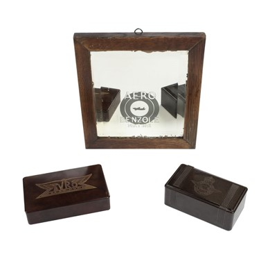 Lot 48-Avro Aircraft. An Art Deco bakelite cigarette box and other items