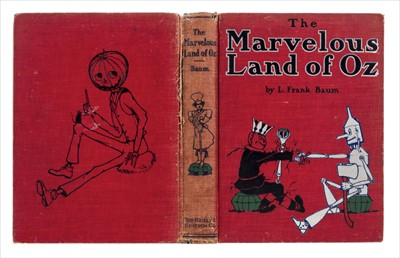 Lot 597 - Baum (L. Frank). The Marvelous Land of Oz, 1st edition, 1st state, Chicago., 1904