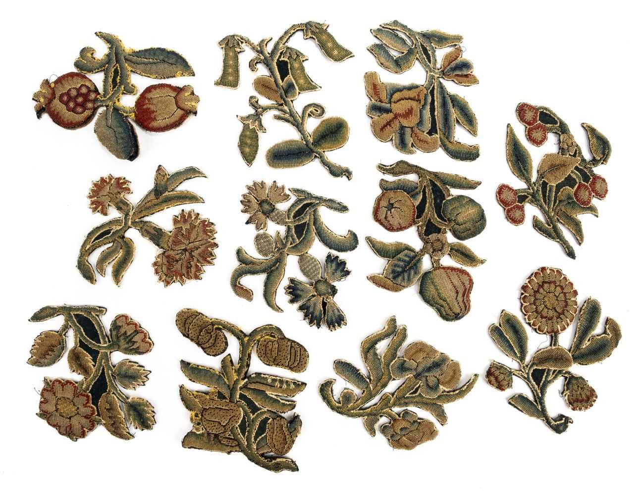 Needlework slips. A collection of slips, English, mid 17th century