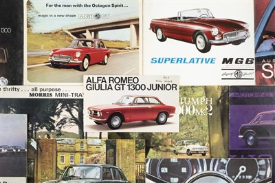 Lot 19-Motoring Brochures. A collection of approximately 25 car brochures, 1960s & 1970s