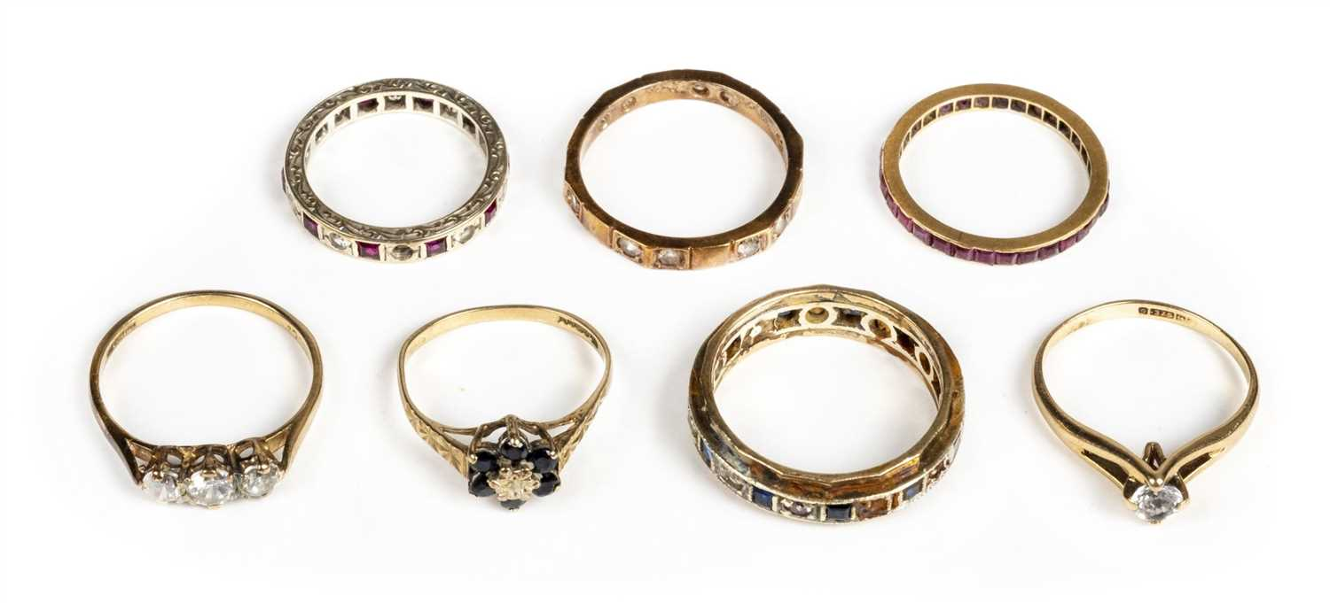 Lot 27 - Rings. A mixed collection of dress rings