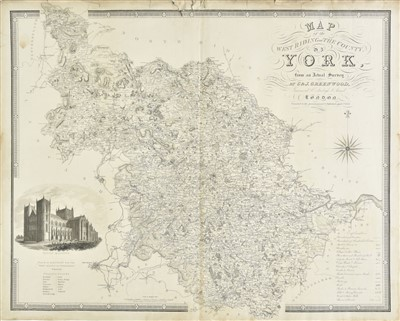 Lot 17-British County Maps. A mixed collection of approximately forty-five maps, 18th & 19th century