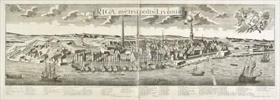 Lot 73 - Probst (George Balthasar), Riga Metropolis Livoniae, 1754